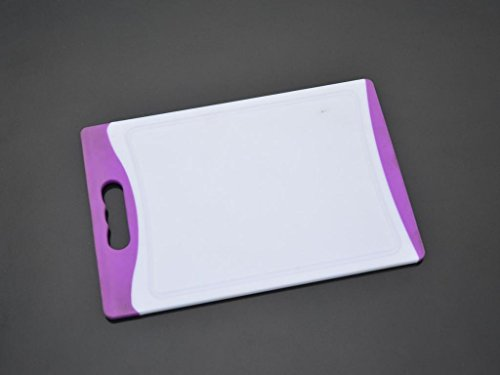Oneisall(Tm) 1-Piece Of Antimicrobial Cutting Board Purple And White-29*20*0.8(Cm)