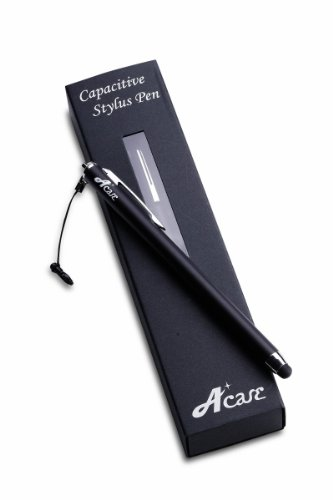 Acase(TM) Stylus - A-ccurate Slim Stylus Pen for Touchscreen Devices Including Kindle Fire, Apple iPad/iPad2/iPad3, Motorola Xoom, Samsung Galaxy Tab, BlackBerry PlayBook (Jet Black).
