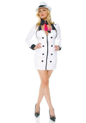Mobster Minx Costume - Large/X-Large - Dress Size 10-14