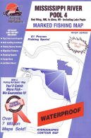 Topographic maps fishing hot spots map for the for Pool 4 mississippi river fishing report