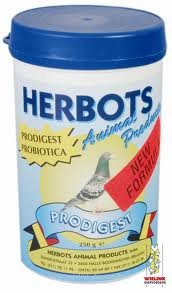 Herbots Prodigest 250 gr. Mixture of vitamins, amin oacids & electrolytes For Pigeons, Birds & Poultry