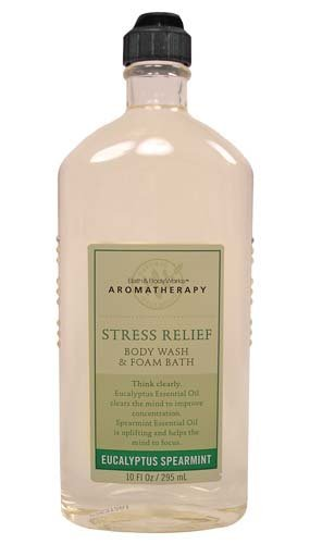 Bath & Body Works Aromatherapy Eucalyptus Tea Stress Relief Body Wash And Foam Bath 10 Oz