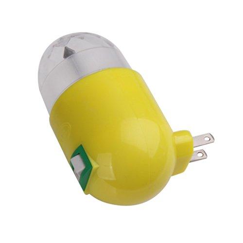 3W Yellow Pub Bar Party Disco Stage Ktv Led Rgb Rotating Night Light Lamp Us Plug