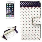 Concise Style Symbol Pattern Horizontal Flip Leather Case with Holder Card Slots Wallet for iPhone 6 Plus