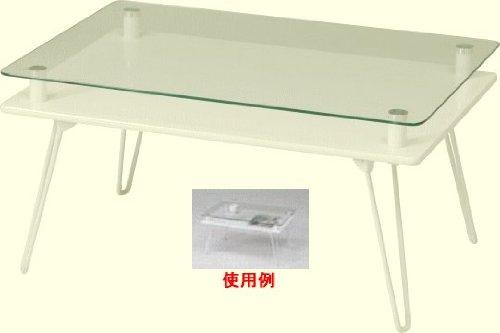 ディスプレイテーブル70クラリスホワイト