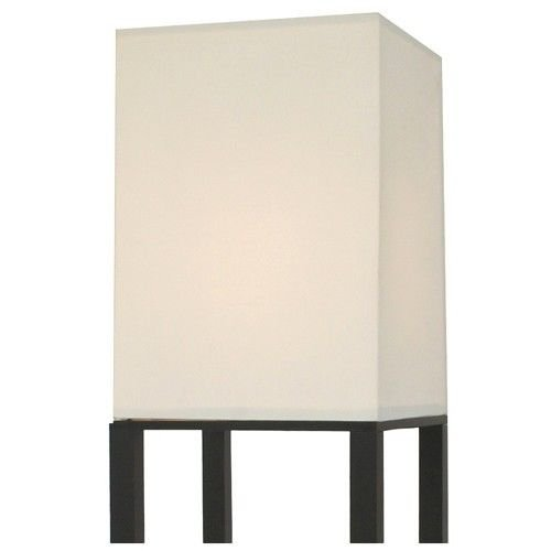 Threshold Shelf Floor Lamp With White Shade Black Home