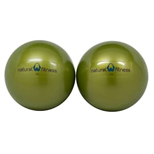 Natural Fitness Pair Soft Weighted Balls Pair, 2-Pounds Each (Moss)