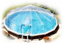 21' Above Ground Swimming Pool Solar Sun Dome Cover Heater Sundome 17 Panels