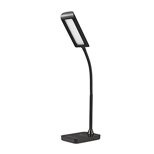 TaoTronics Dimmable Touch Eye-Care LED Desk Lamp (7W, Black, Flexible Gooseneck, 7-Level Dimmer, Slide Touch-Sensitive Control Panel, No Dark Area, No Ghosting, No Glaring) - TT-DL11 Luna