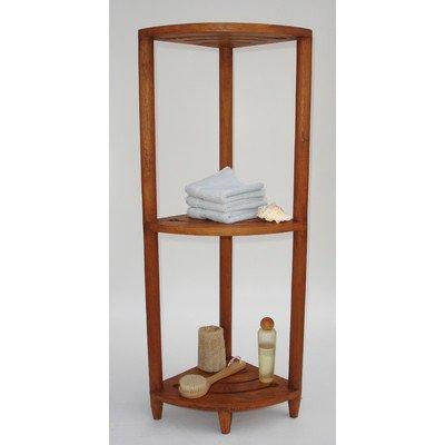 The Original Kai Corner Teak Bath Shelf