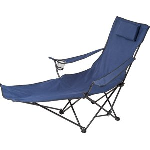 Be-Active Folding Lounge Chair with integral footrest