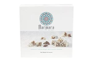 Marmara Authentic Turkish Delight with Coconut Covered Almond/ Sweet Confectionery Box Candy Dessert 8.8 Oz / Buy one 8.8 Oz Get One 4.4 Oz FREE! Enter Code