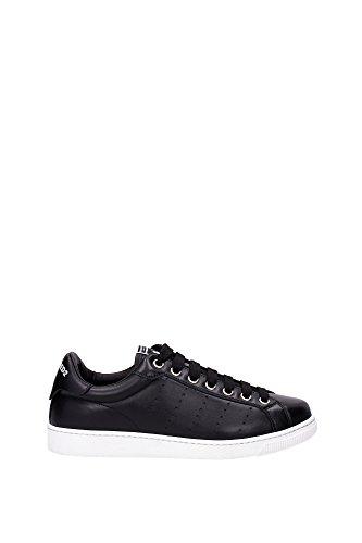Sneakers Dsquared2 Herren Leder Schwarz und Weiß S16SN4030652124 Schwarz 44EU thumbnail