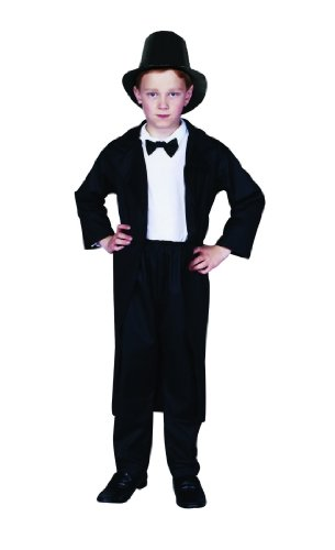 Child's Abe Lincoln Costume Size Small (4-6)
