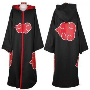 Japanese Anime costumes cosplay costumes NARUTO Akatsuki Ninja Uniform / Cloak,Size L