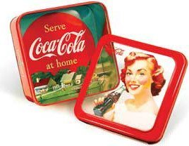 COKE SQUARE WINDOW TIN MAN DESIGN GIRL