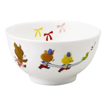 NARUMI くまのがっこう(レンジ、食洗機可) ごはん茶碗【こども食器】 陶磁器 41027-3761