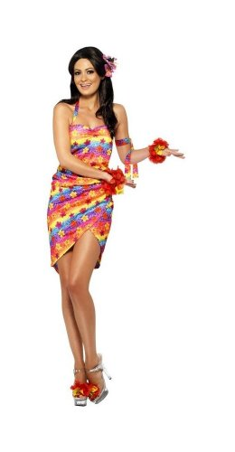 Hawaiian Party Girl Adult Costume