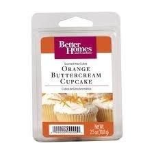 1 X Better Homes and Gardens Orange Buttercream Cupcake Wax Cubes