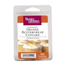 1 X Better Homes and Gardens Orange Buttercream Cupcake Wax Cubes (Better Home And Garden Wax Cubes compare prices)
