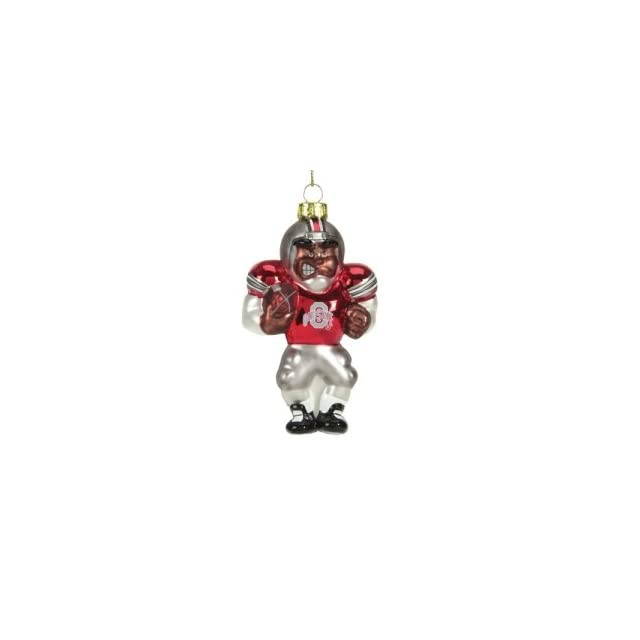 Ohio State Buckeyes NCAA Glass Player Ornament (4 African American)