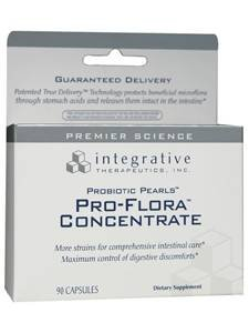 Integrative Therapeutics - Pro-Flora Concentrate with Probiotic Pearls Technology (90 Capsules) (PR123)