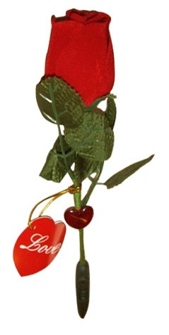 Valentine's day Talking and Recording LED Rose- 1key record,1key play to express your love, With a flash core of heart-shaped on the flower stalk