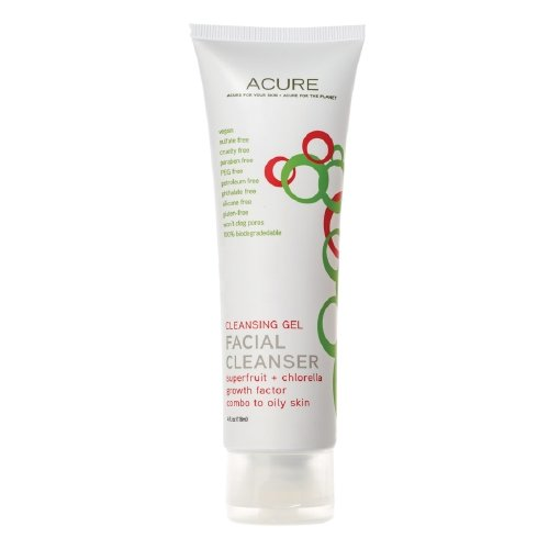 Acure Organics Facial Cleanser Cleansing Gel 4 Fl Oz