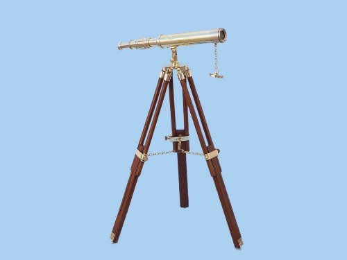 "Floor Standing Brass Harbor Master Telescope 30"" - Harbormaster Telescope - Decorative"