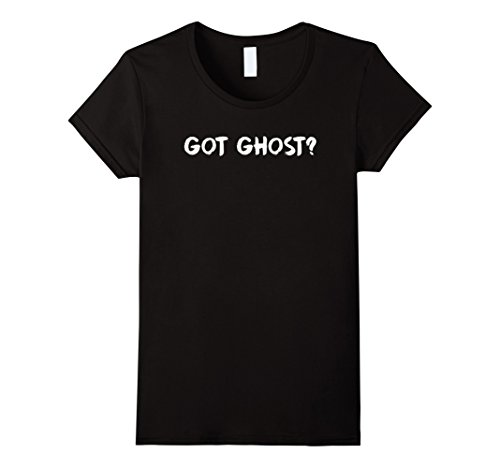 [Women's Got Ghost? Funny Halloween Play On Words Costume T-Shirt Tee XL Black] (Play Words Costume Ideas)
