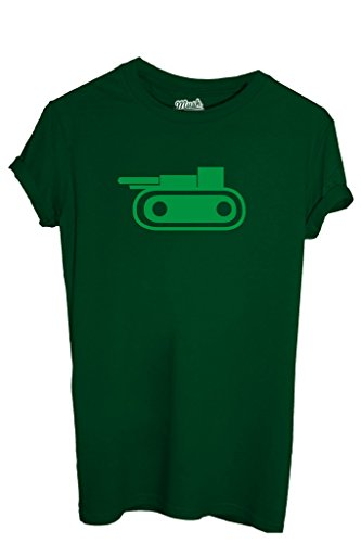 T-SHIRT RISIKO CARRO ARMATO-GIOCHI by MUSH Dress Your Style - Uomo-XXL-VERDE BOTTIGLIA