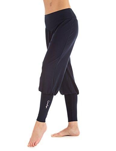 Winshape donna Fitness tempo libero Sport Yoga Pilates Allenamento e polsini pantaloni, Donna, Fitness Freizeit Sport Yoga Pilates Trainings und Manschettenhose, Blu - Night blue, M