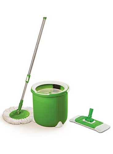 Upto 35% off On Home Cleaning Supplies By Amazon | Scotch-Brite Jumper Single Bucket Floor Cleaning Spin Mop with 1 Round & 1 Flat Mop Refill @ Rs.1,249