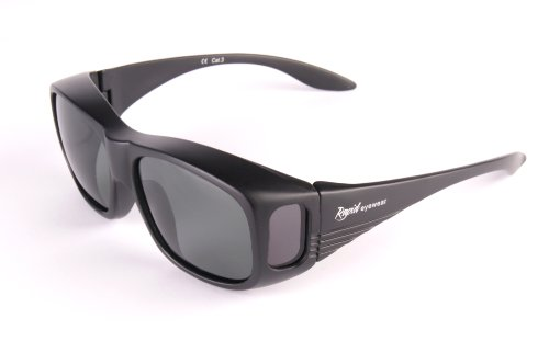 BLACK POLARISED FIT OVER SUNGLASSES Lightweight,