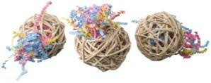 Super Bird Creations Fiesta Ball Stuffers 3pk Bird Toy