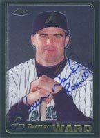 Turner Ward Arizona Diamondbacks 2001 Topps Chrome Autographed Hand Signed Trading... by Hall+of+Fame+Memorabilia