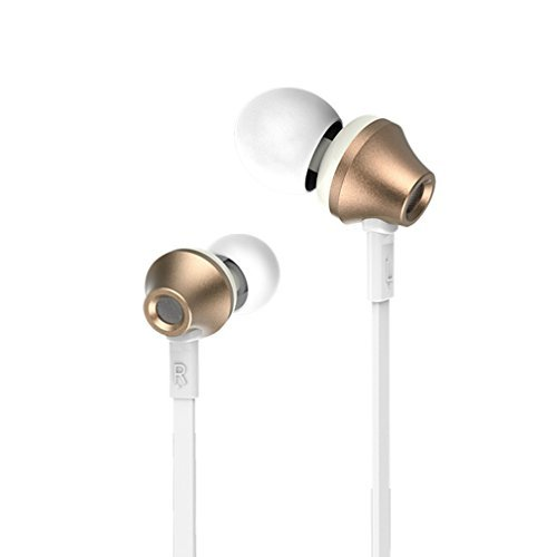 GranVela Remax 610D High Performance Earphones In-Ear Headphones Patent Designed With [IOS/Android SmartSwitch Controller]High Tensile Resistance Headsets Wiht Microphone,3.5mm Jack Earbuds(Retail Packaging) ,for iPhone 6, 6 Plus, 5S, 5C, 5, 4S, 4/ iPad 4, 3, 2, 1, Mini, Air / iPod Touch, Nano, Shuffle, Classic / Samsung Galaxy S5, S4, S3, Note 4, Note 3, Note 2 / Other Android Smartphones - Motorola, Google Nexus, HTC, Sony, Nokia / Tablets & MP3, MP4 Players --Gold