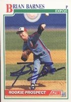 Brian Barnes Montreal Expos 1991 Score Prospect Autographed Hand Signed Trading Card... by Hall+of+Fame+Memorabilia
