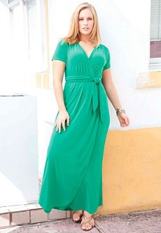 Wear to Work: Jessica London Plus Size Maxi Dress, Faux Wrap (KELLY ...