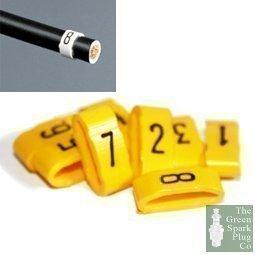 7mm Kabel Stecker Kabel Nummern - Markierungen 1 Bis 8 - Gelb