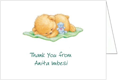 Naptime With Green Blankey Baby Shower Thank You Cards - Set Of 20 front-1035907