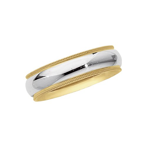 Two Tone Titanium Wedding Bands