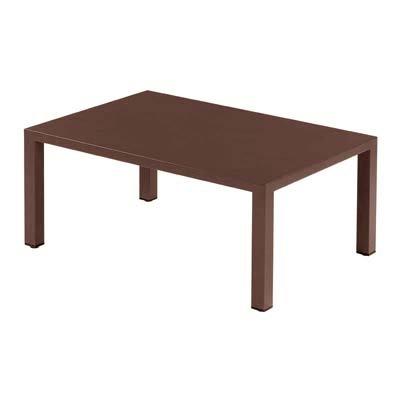 EMU Tisch Esstisch Gartentisch Round 100x70x42 cm (braun)