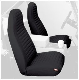 Bestop 29224-15 Black Denim Front High Back Bucket Seat Cover Set for 92-94 Wrangler YJ (Yj Bucket Seats compare prices)