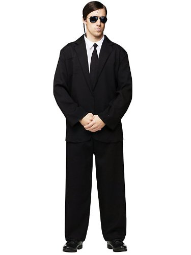 FunWorld Men's Black Suit Complete Costume
