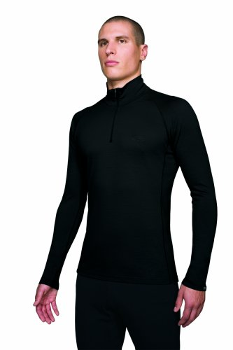 Icebreaker Ultralite 150g Atlas Half Zip Black Herren All Season (L)