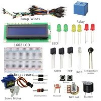 universal Cheapest 12 types Overvalue New Project 1602 LCD Starter Kit for Arduino UNO R3 Mega 2560 for Nano Beginner by TechWiz,India