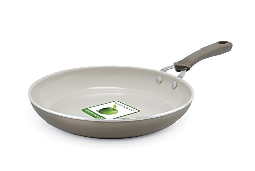 Trisha Yearwood Cottage Precious Metals 10 Inch Non-Stick Ceramic Fry Pan, Titanium