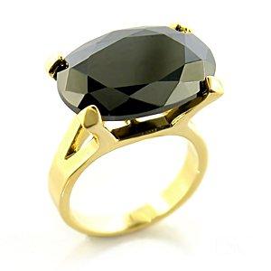 Jewelry - Black Gold Tone Ring SZ 8