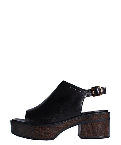 Vagabond Noor Sandal Black - Sandalo Nero Pelle, Legno